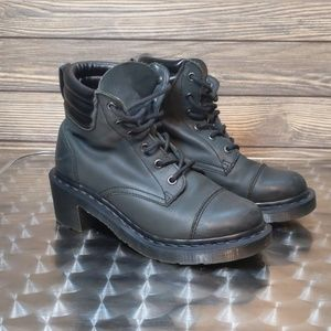 Women's Dr.Martens Green Motorcycle Boots